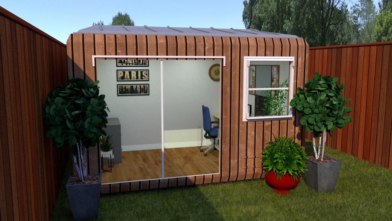 Garden-Office-pod-Wood