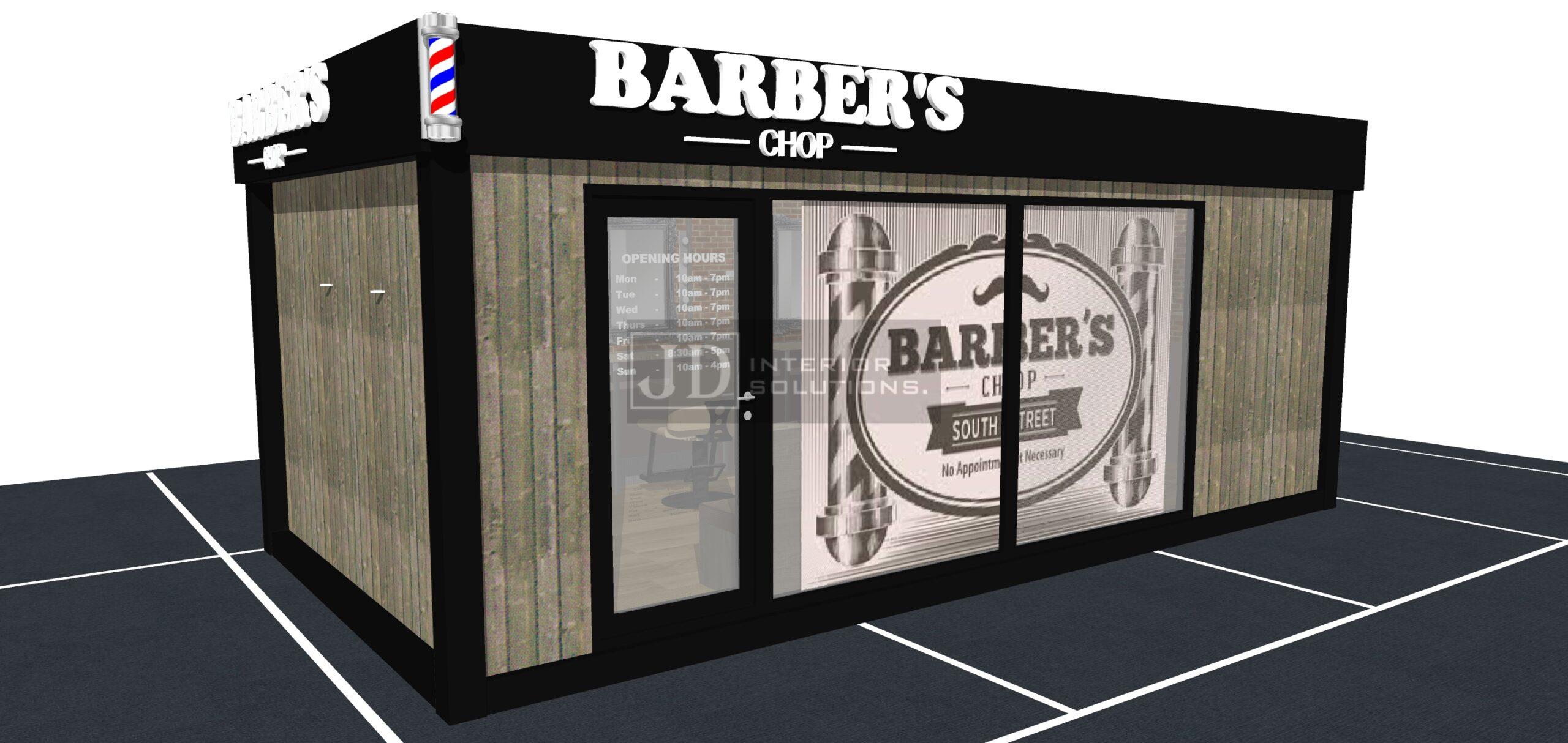 Barbers Chop 6.8m x 3.4m