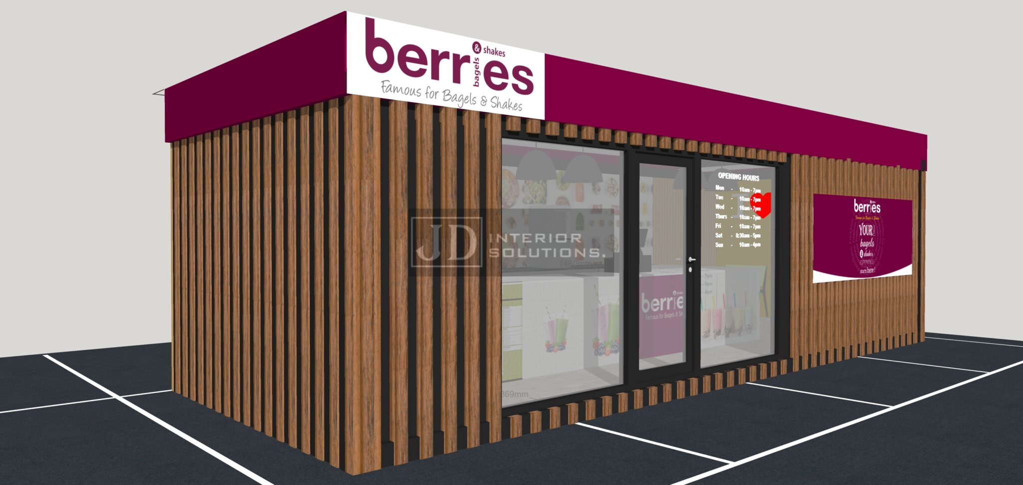 Berries Bagels & Shakes 9m x 3.4m POD
