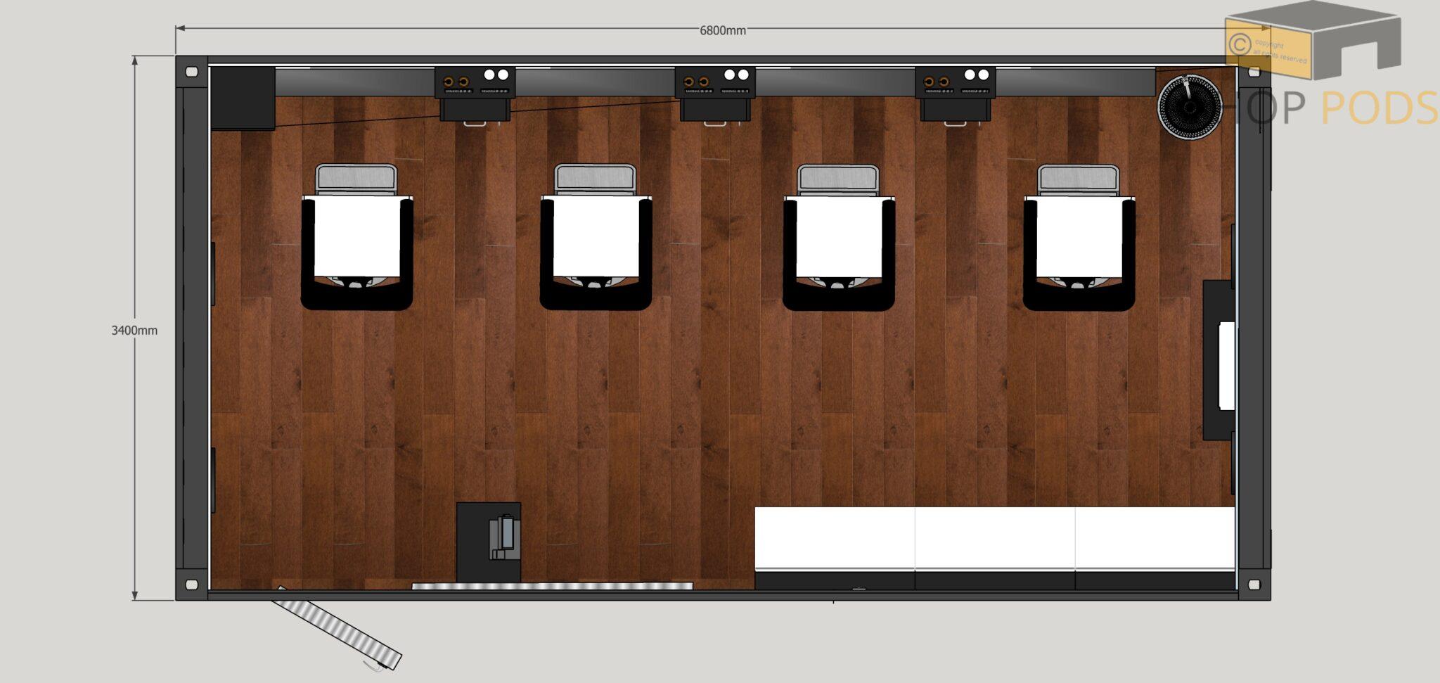 Cutbox 6.8m x 3.4m Pod4