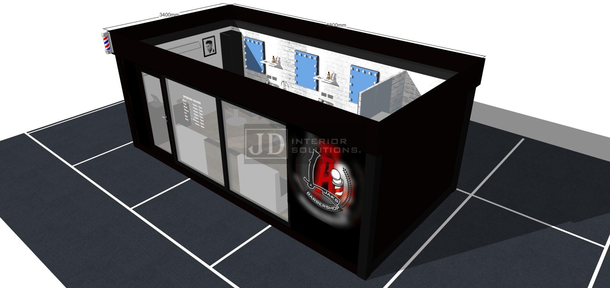 LA Jaks Barbershop - 6.8m x 3.4m0