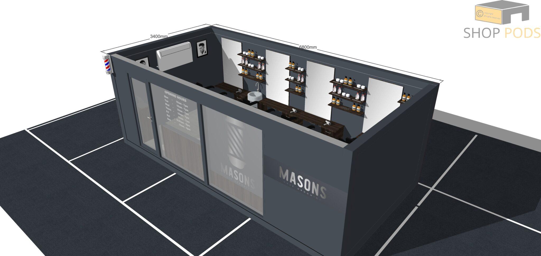 Mason - 6.8m x 3.4m POD0