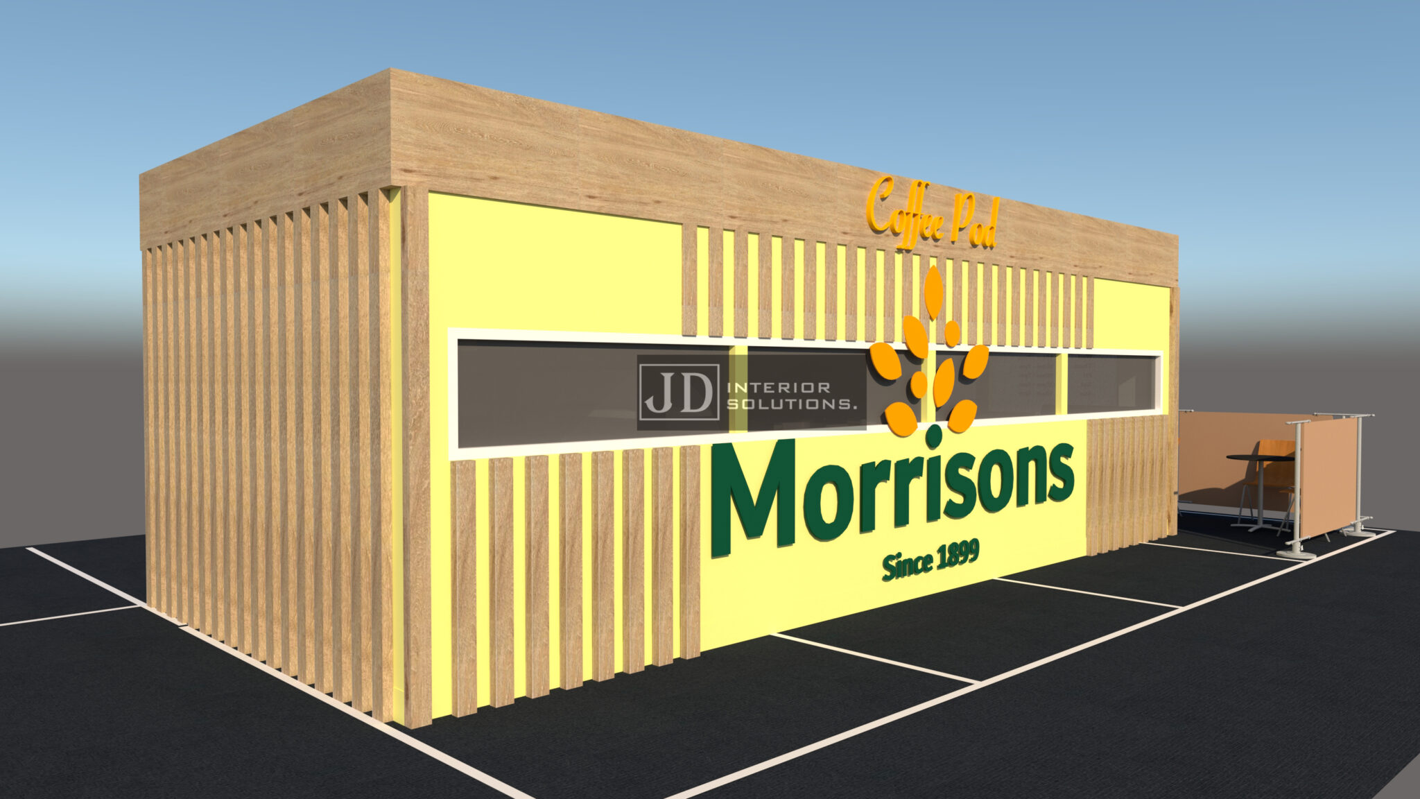Morrisons Coffee Pod 8m x 3.4m