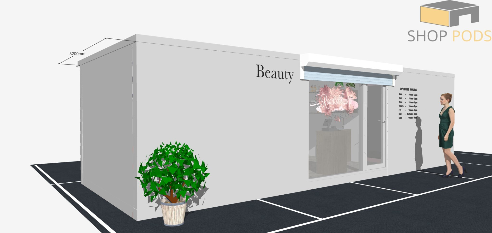 Road to Beauty 9m x 3.2m POD