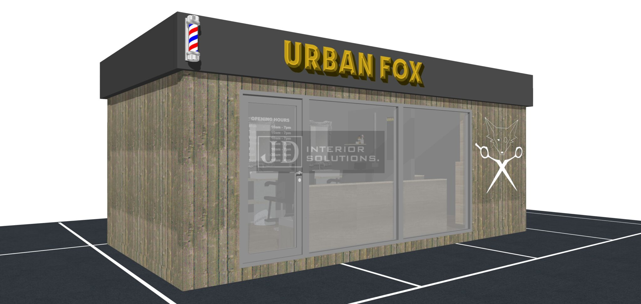 Urban Fox - 6.8m x 3.4m POD