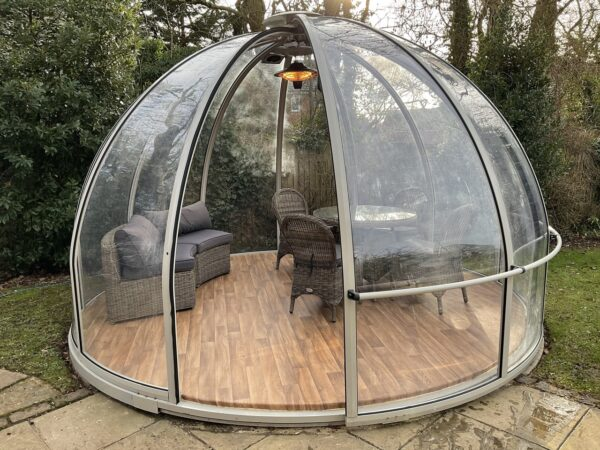 garden igloo dining